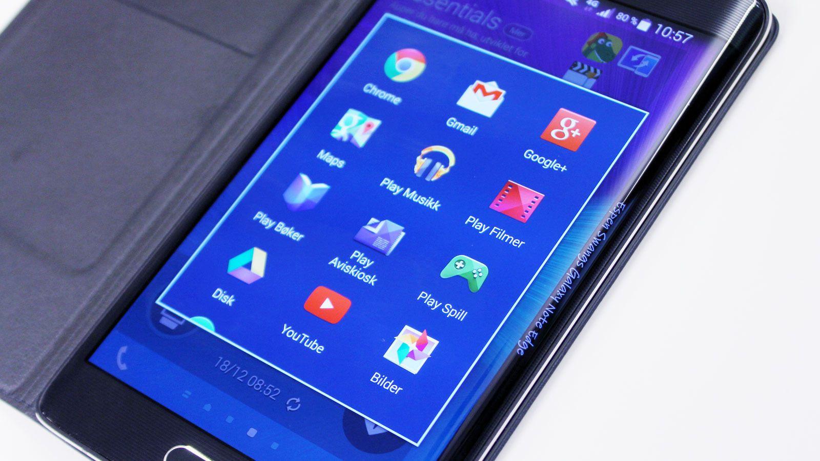 Galaxy Note 4 og Galaxy Note Edge (bildet) kan få oppfølgere om under en måned. Foto: Espen Irwing Swang, Tek.no