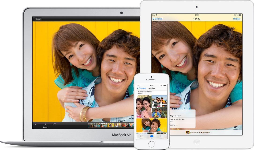 Apple iCloud kan få bildene dine til å automatisk dukke opp på flere enheter. Det er ikke nødvendigvis ønskelig.Foto: Apple