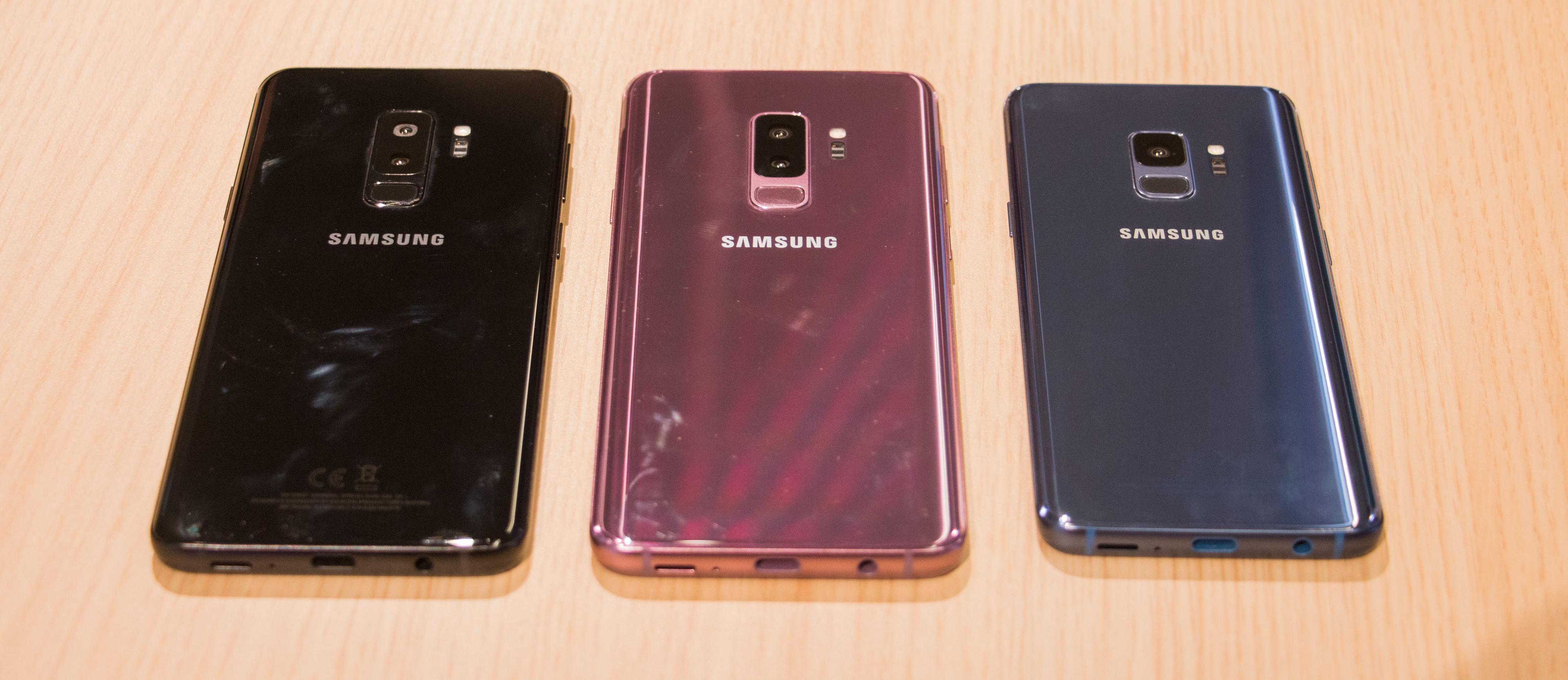 Her er de tre forskjellige fargene Galaxy S9-modellene kommer i.