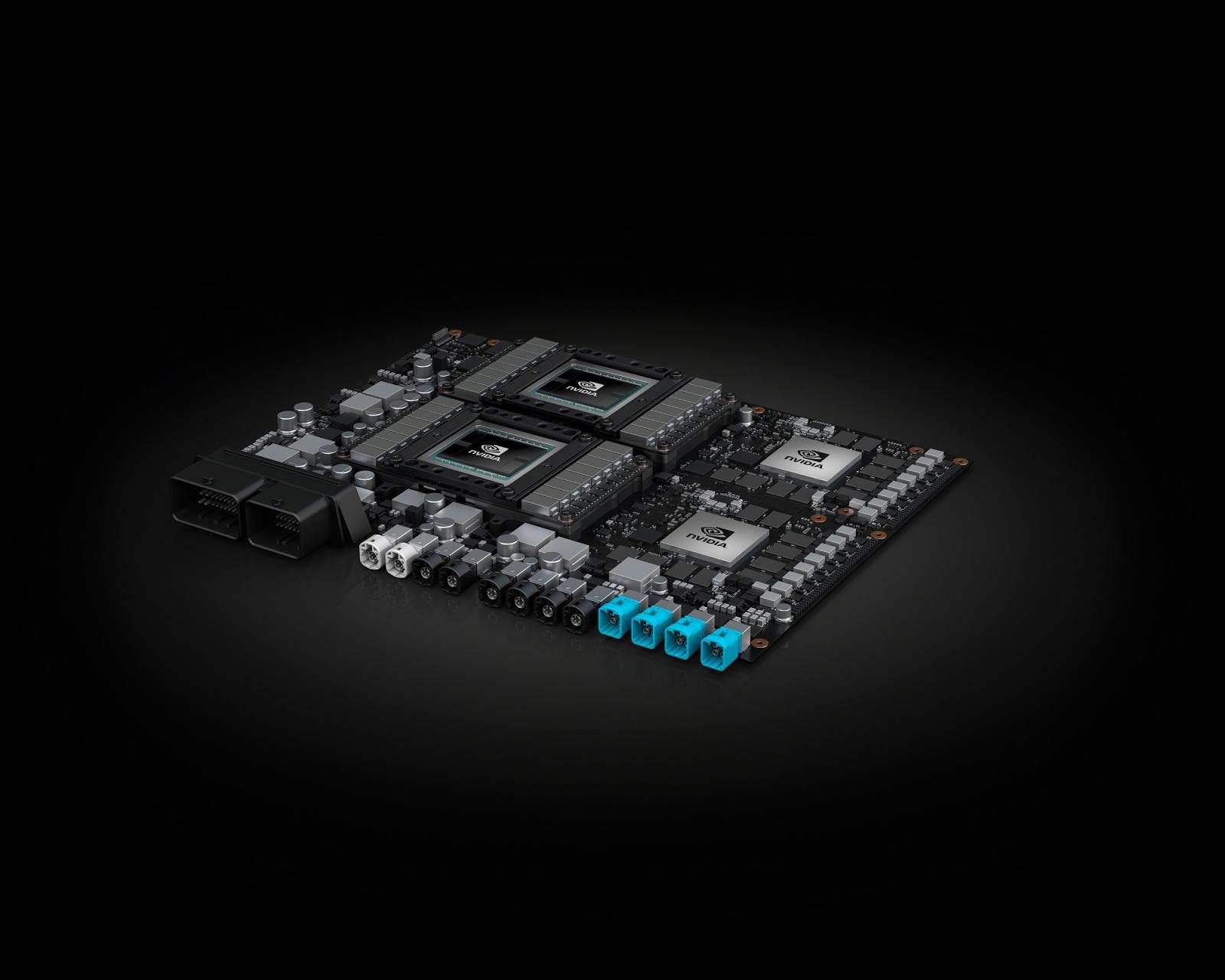 Xavier blir en sentral del av Nvidias Drive Pegasus-plattform, her avbildet, som virkelig skal få fart på selvkjørende bilteknologi. Bilde: Nvidia