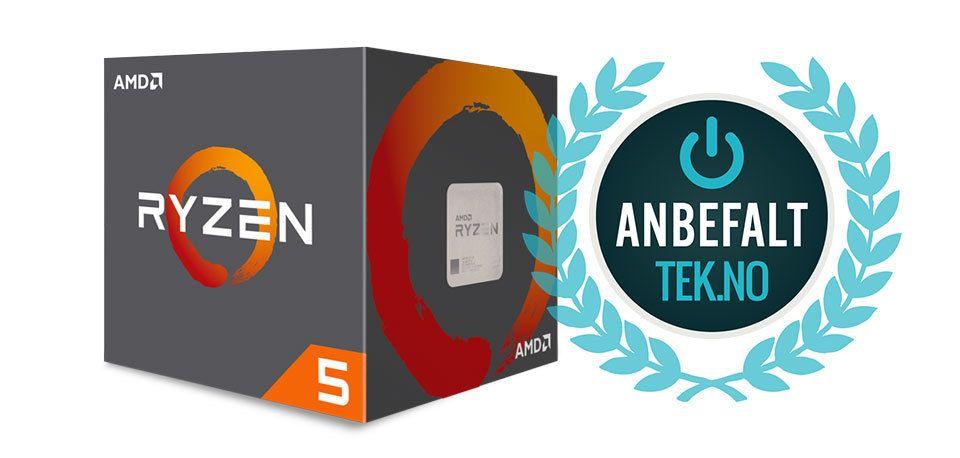 Anbefalt: AMD Ryzen 5 1600X.