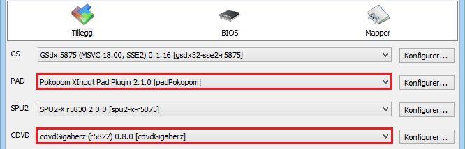 I tilleggsvinduet må du velge de rette tilleggene for å bruke kontroller og DVD-ROM-en din.