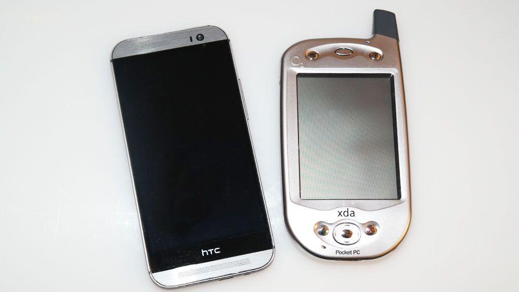 HTCs nyeste til venstre, den eldste til høyre. Foto: Espen Irwing Swang, Tek.no