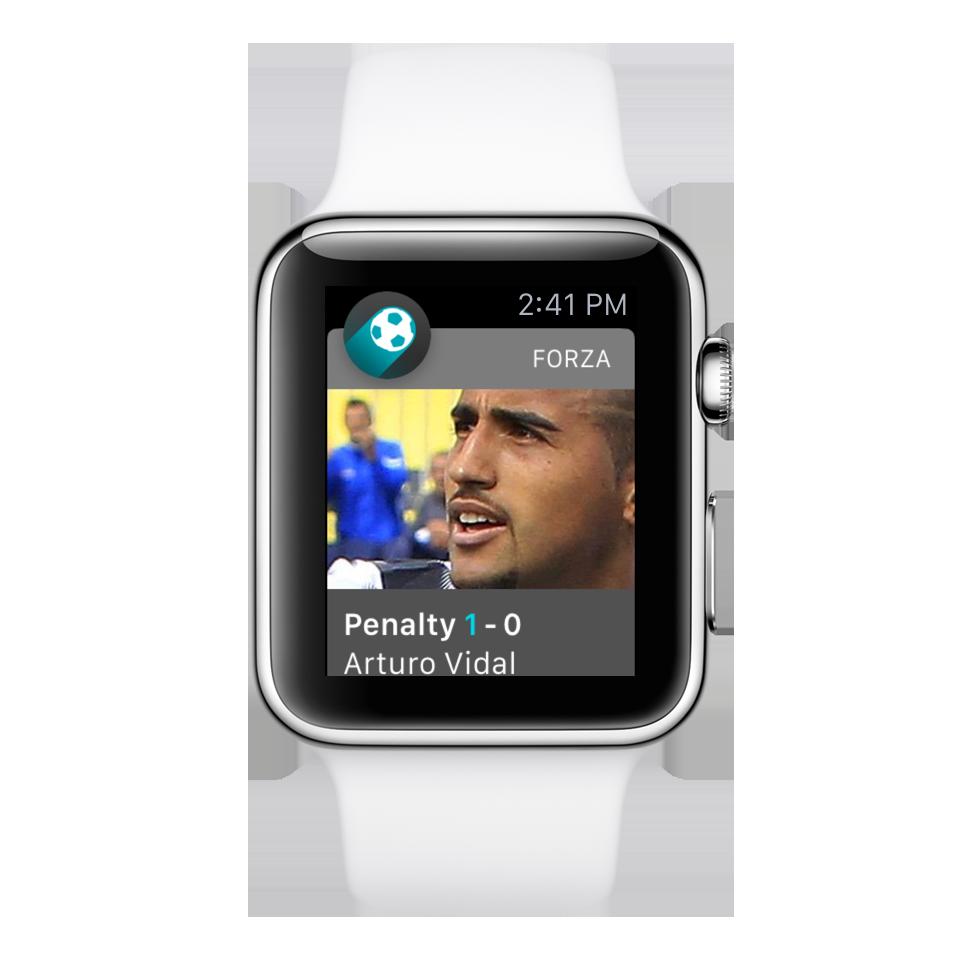 Forza Football på Apple Watch.
