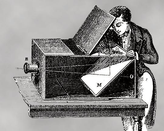 Et bærbart camera obscura.Foto: Wikimedia CC