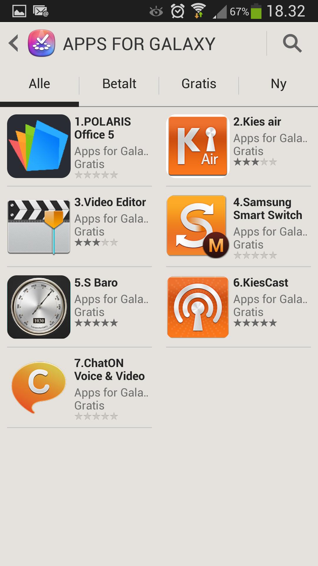 I Samsung Apps ligger det en rekke apper du kan laste ned gratis.