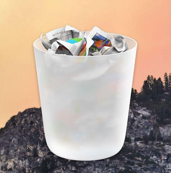 Søppelbøtten er ett av ikonene Apple har brukt flere hundre timer på å designe.