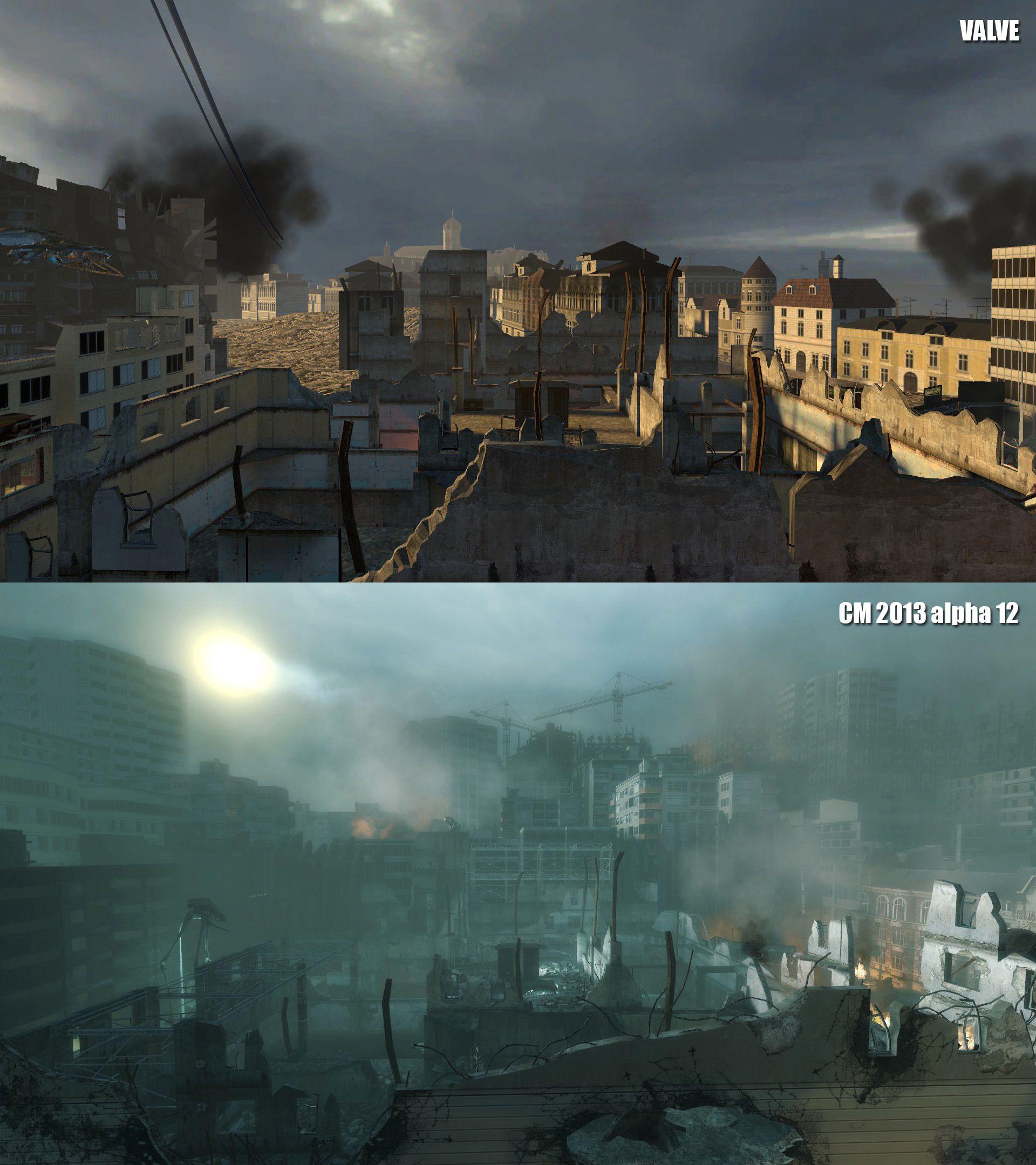 Slik kan Half Life 2 se ut med en teksturpakke fra FakeFactory. Foto: FakeFactory Cinematic Mod