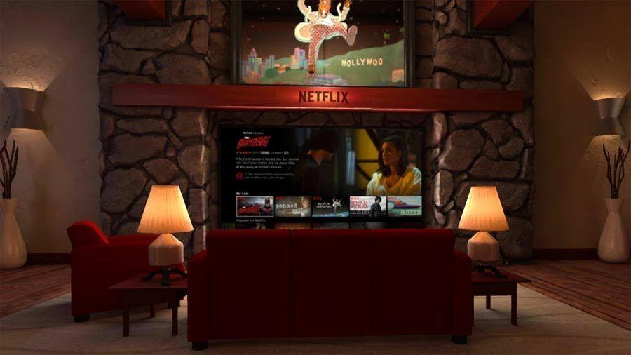 Slik ser Netflix ut inne i Google Daydream.