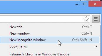 Her finner du privatsurfe-innstillingen i Chrome.