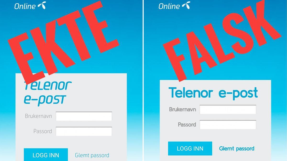 Varsler om falsk Telenor-side