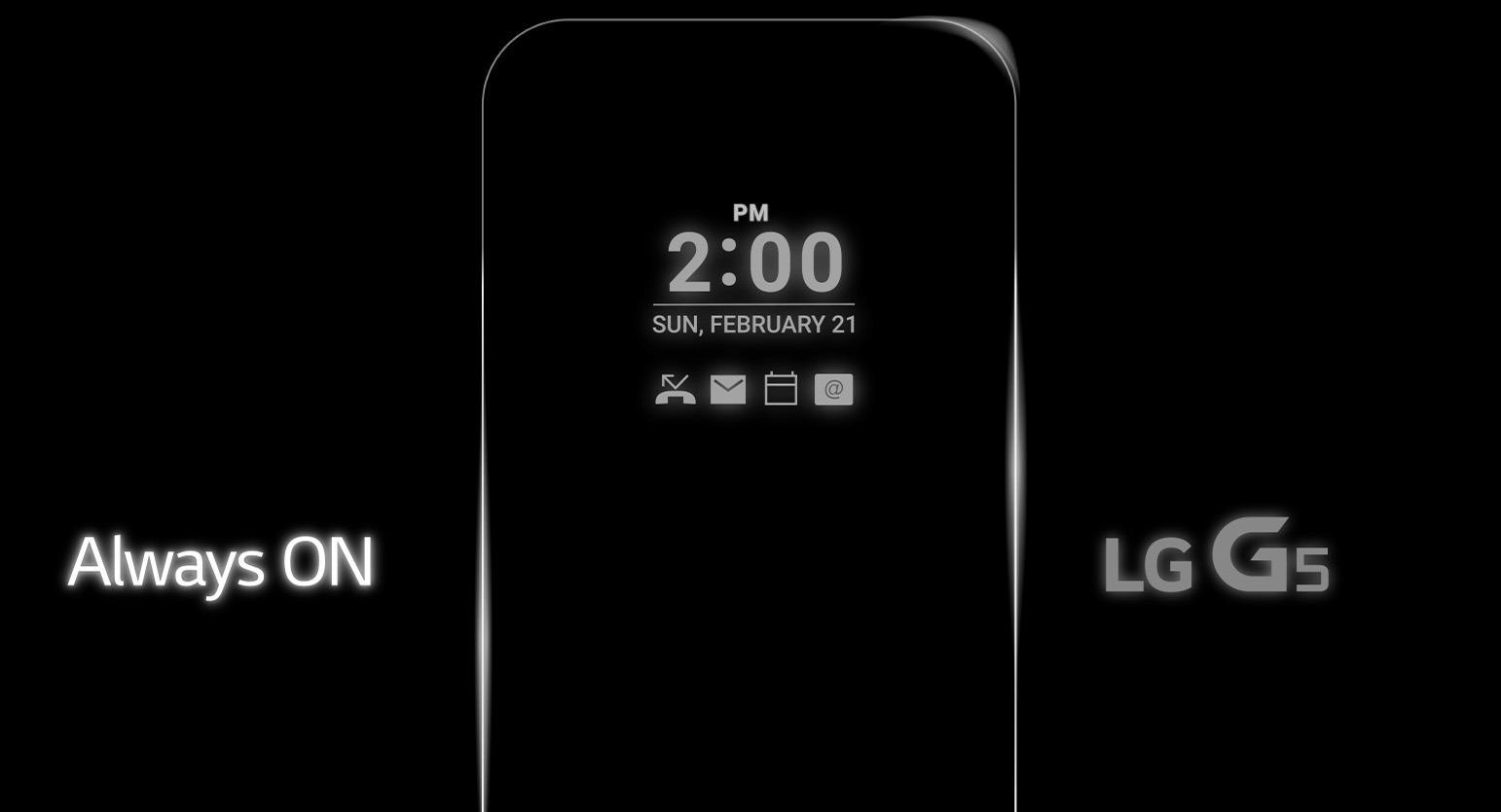 G5-skjermen står alltid på