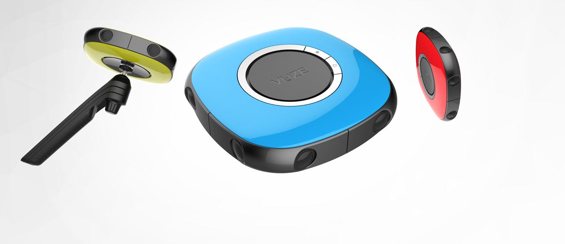 Kameraet kommer i flere farger, og med både selfie-stang og stativ.