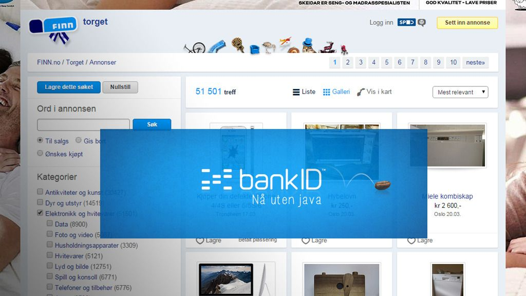 Finn.no får støtte for BankID
