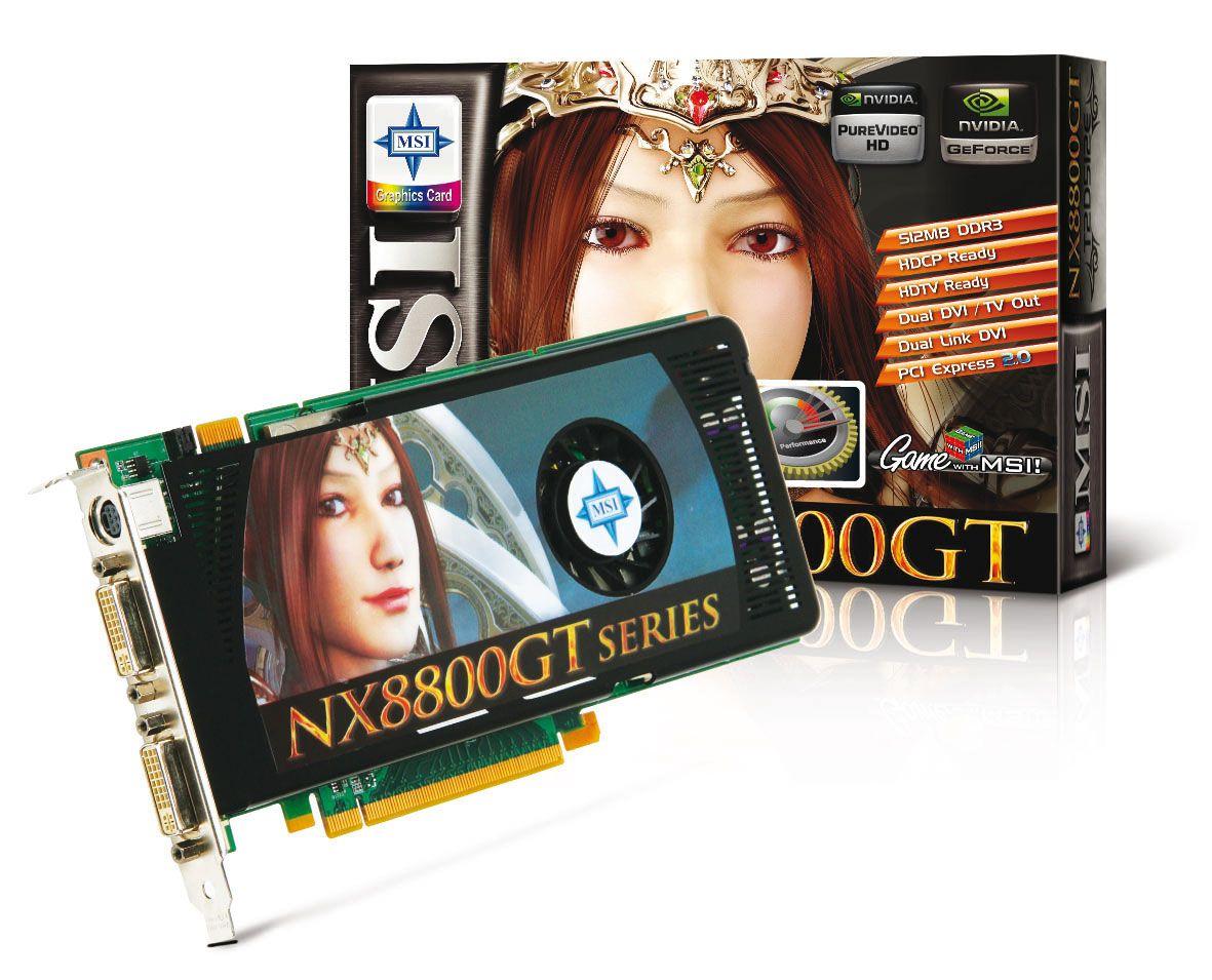 MSI NX8800GT-T2D512E-OC Klikk for større bilde