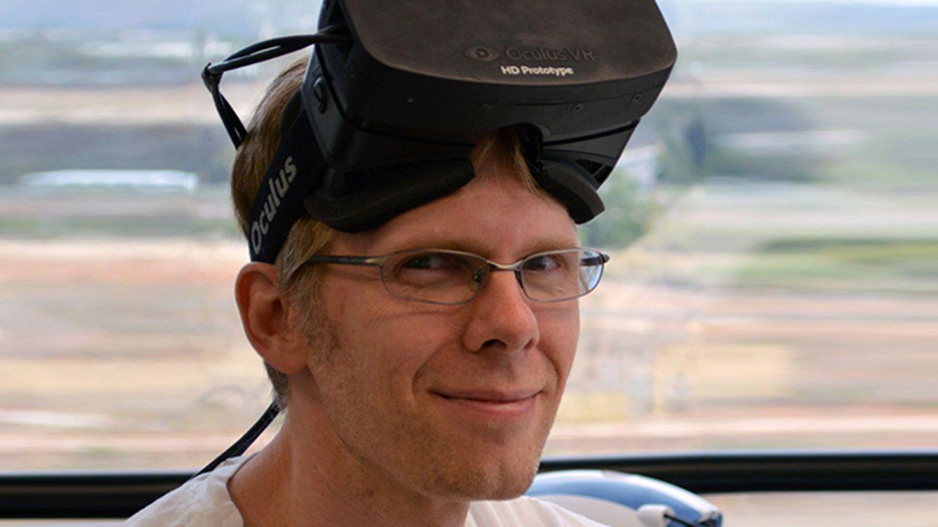 Bakgrunnen for søksmålet var at ZeniMax beskylder John Carmack, her avbildet, for å ha stjålet Oculus Rift-teknologien da han gikk over til Facebook.