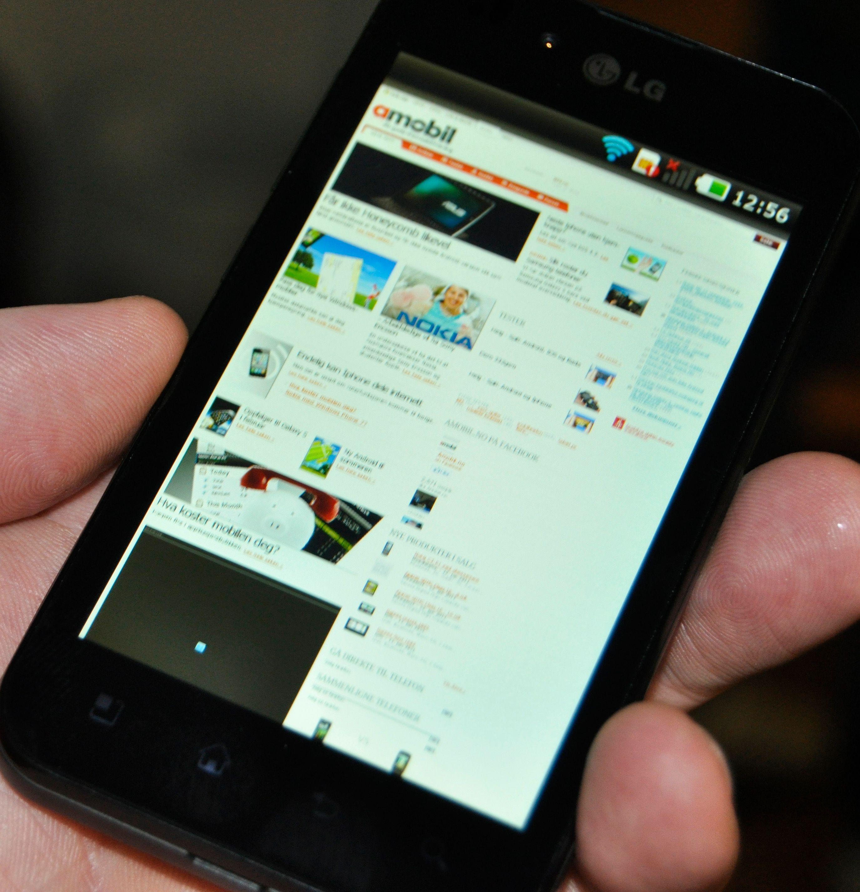 LG Optimus Black blir en av de første mobilene med skjerm basert på NOVA-teknologi.