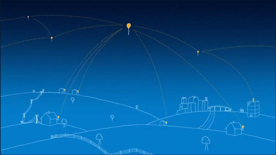 Googles ballonger driver rundt høyt oppe i stratosfæren.Skjermdump: Google