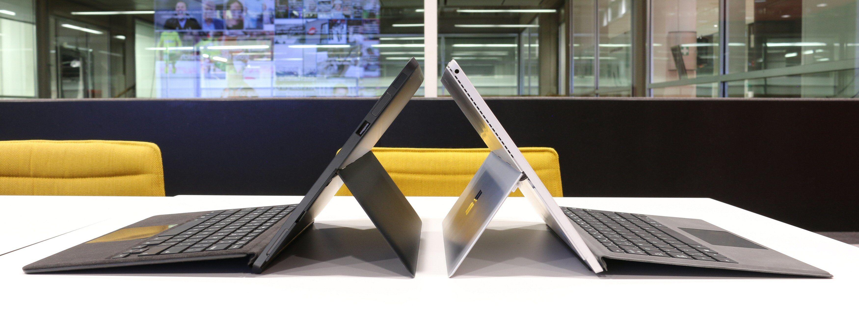 Eve V til venstre, Surface Pro 4 til høyre. Bilde: Vegar Jansen, Tek.no