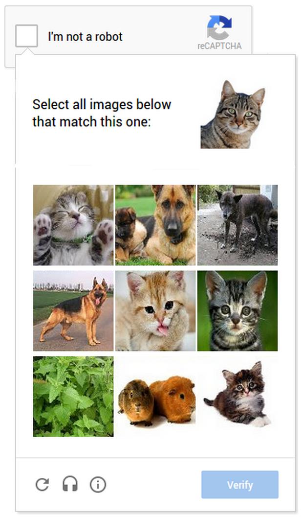 Google spekulerer også i nye løsninger for å gjøre CAPTCHA enklere å bruke på mobiltelefoner.Foto: Google