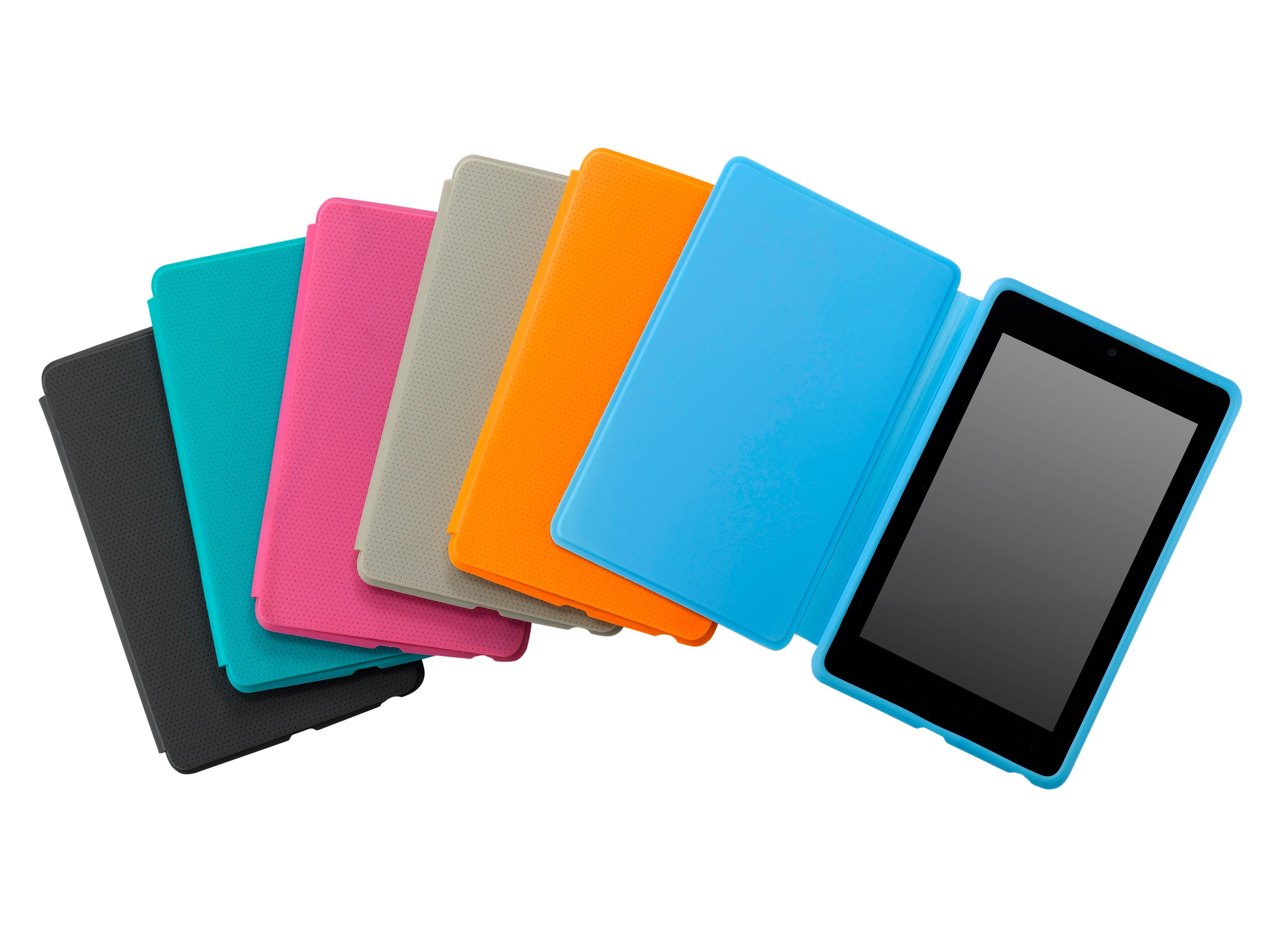 Du kan kjøpe deksler i en rekke farger til Google Nexus 7.Foto: Asus/Google