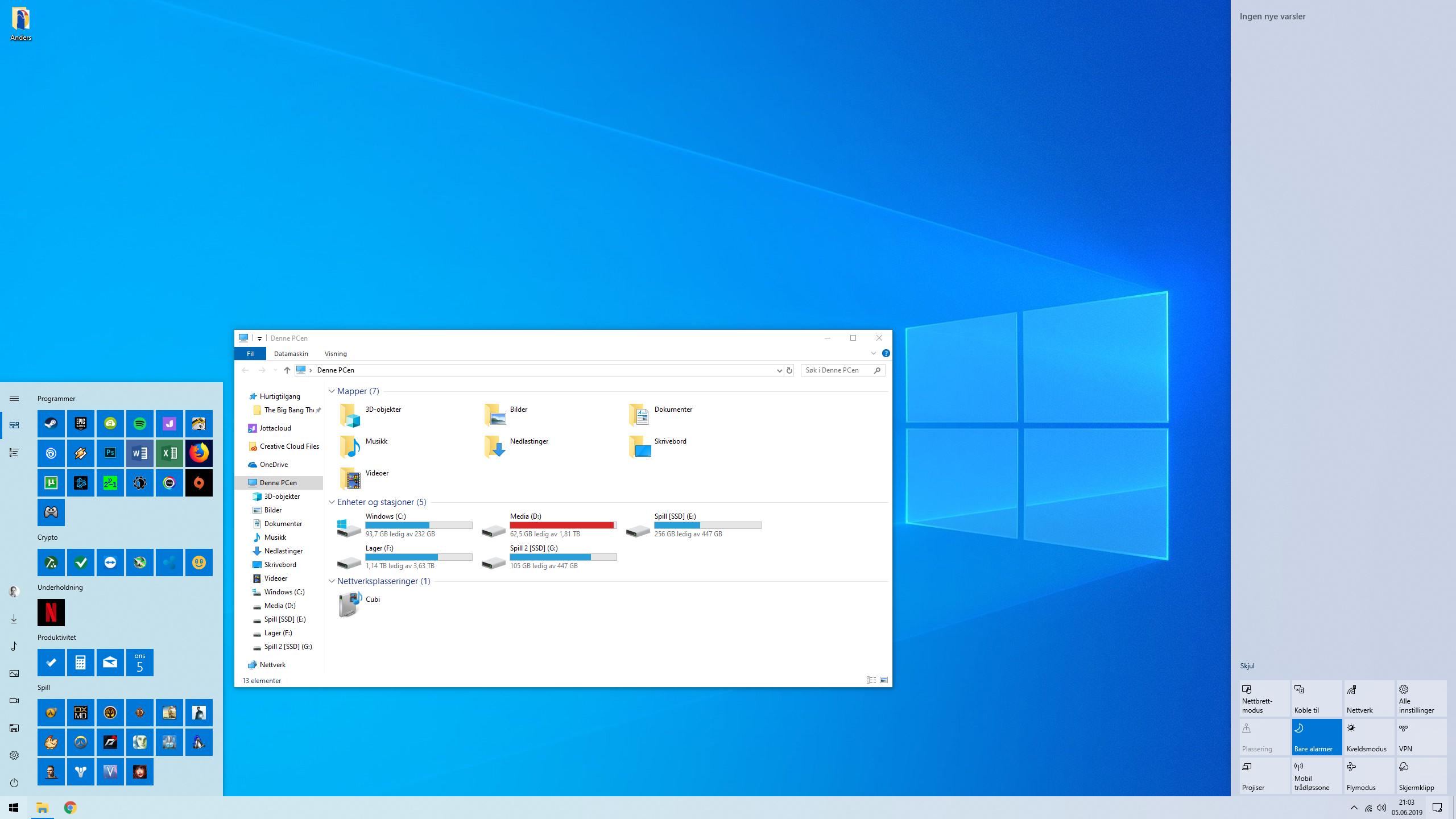 Lyst tema er en av nyhetene i Windows-oppdateringen.