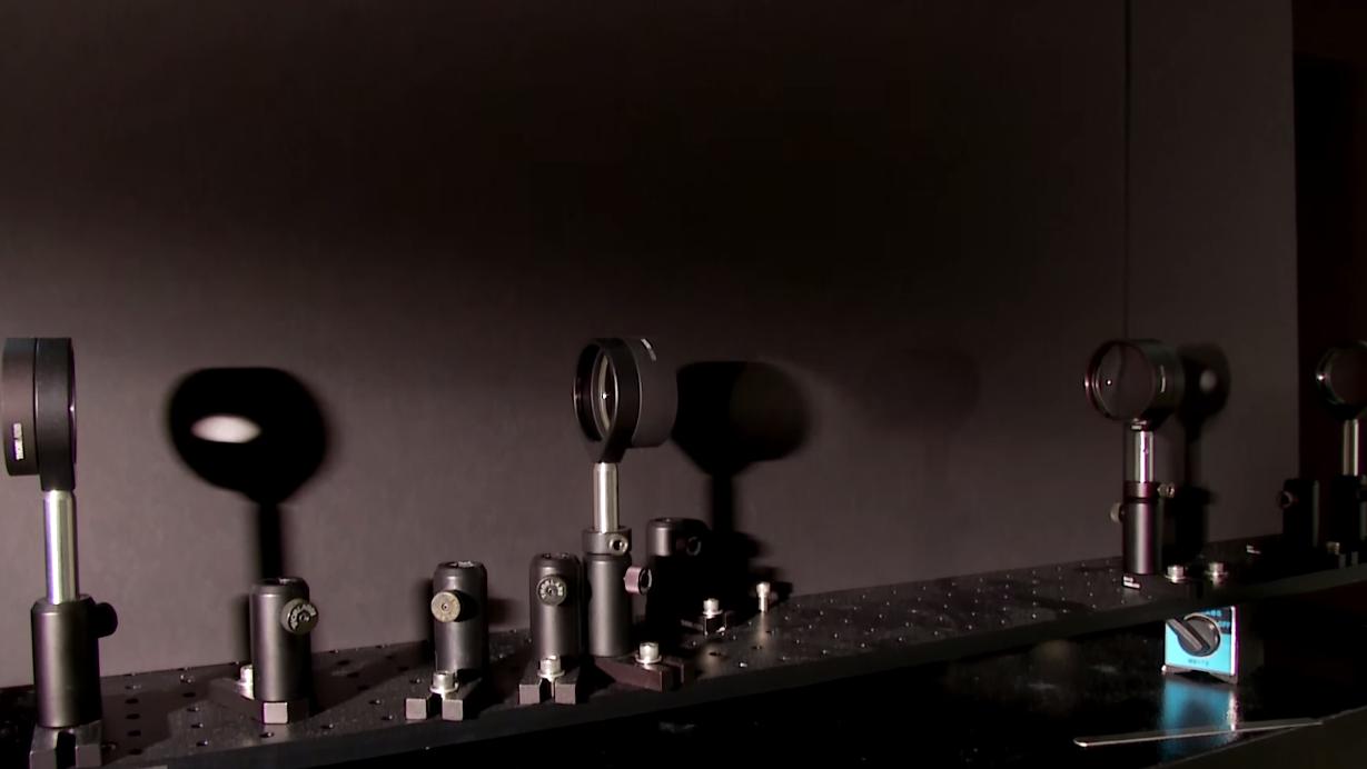 Slik ser usynlighetsapparatet ut.Foto: University of Rochester/YouTube