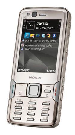 Nokias N82 er en av mobiltelefonene som har Symbian-baserte menyer. (Foto: Nokia)