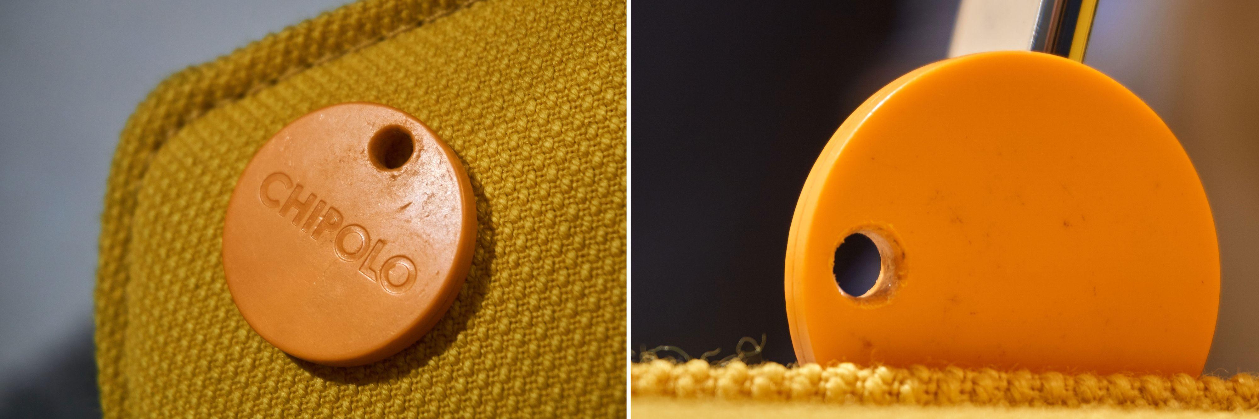 Brikkene er utsatt for slitasje på nøkkelknippet, så kanskje er det like greit å bytte dem ut? Her Chipolo Classic etter ett år i bruk.