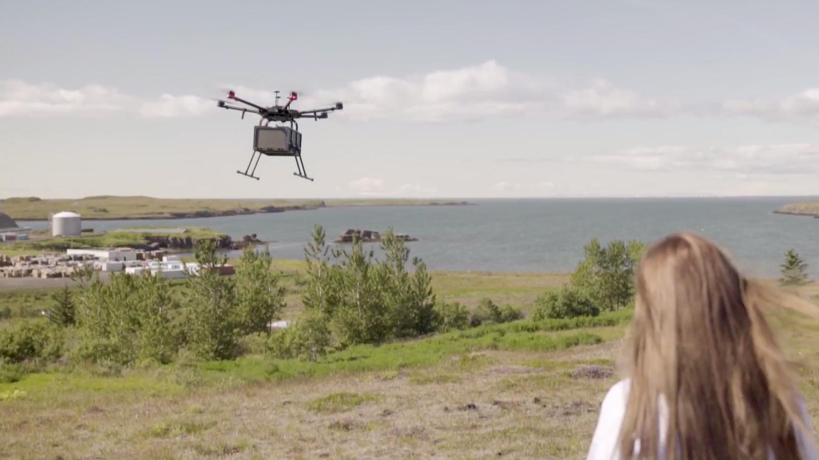Island er første land i Norden som tester ut dronelevering i større skala