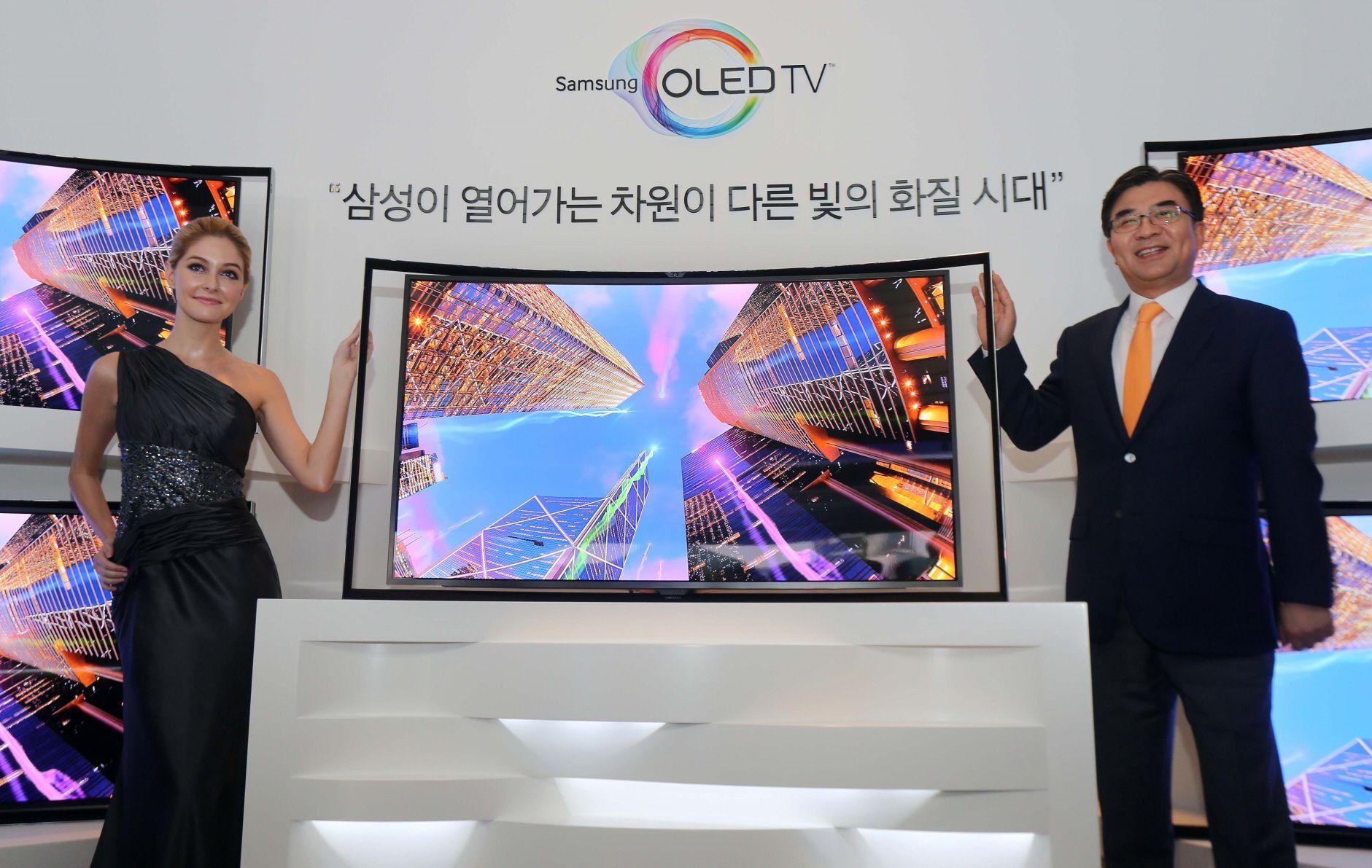 Samsung bekrefter at er i gang med å forbedrede for QD-OLED. Her er et bilde fra de prøvde seg på OLED tilbake i 2013. Bilde: Samsung