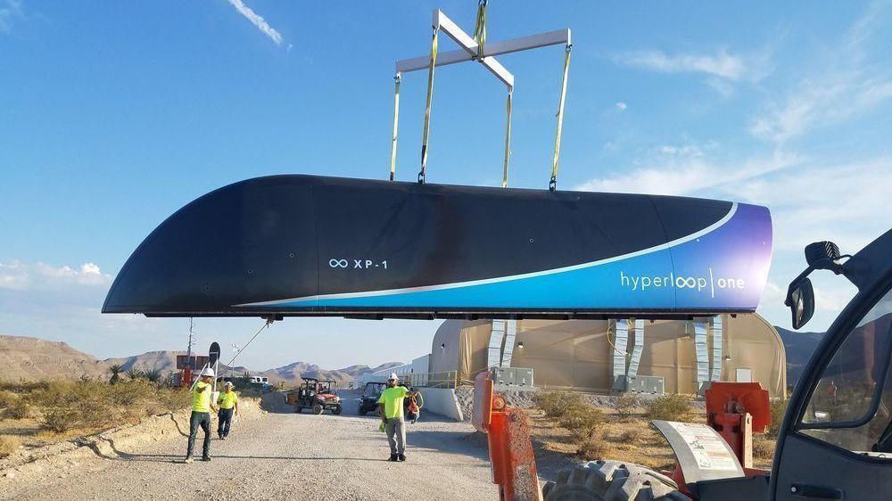 Se Hyperloop-toget sveve bortover i over 300 kilometer i timen – med passasjervogn