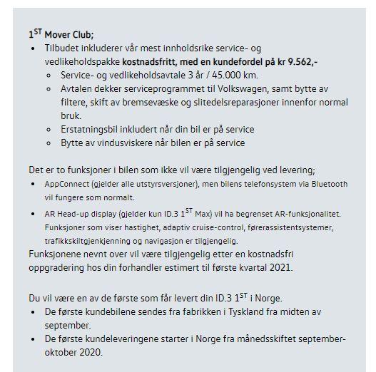 Slik var informasjonen fra Møller til kundene på forhånd.