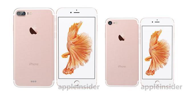 Dette skal være produktbilder av de to nye iPhonene.