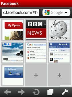 Skjermbilde fra Opera Mobile 10 beta. (Foto: Opera)