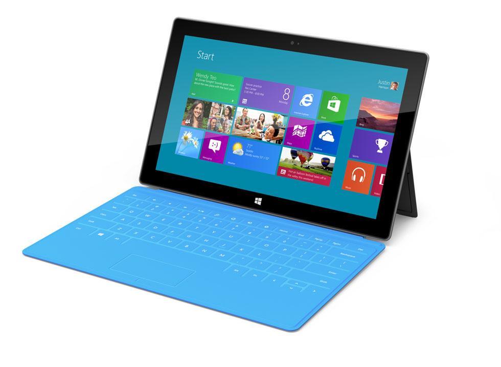 Slik ser Microsofts eget Surface-nettbrett ut. Nettbrettet ble presentert av Microsoft i juni i år.Foto: Microsoft