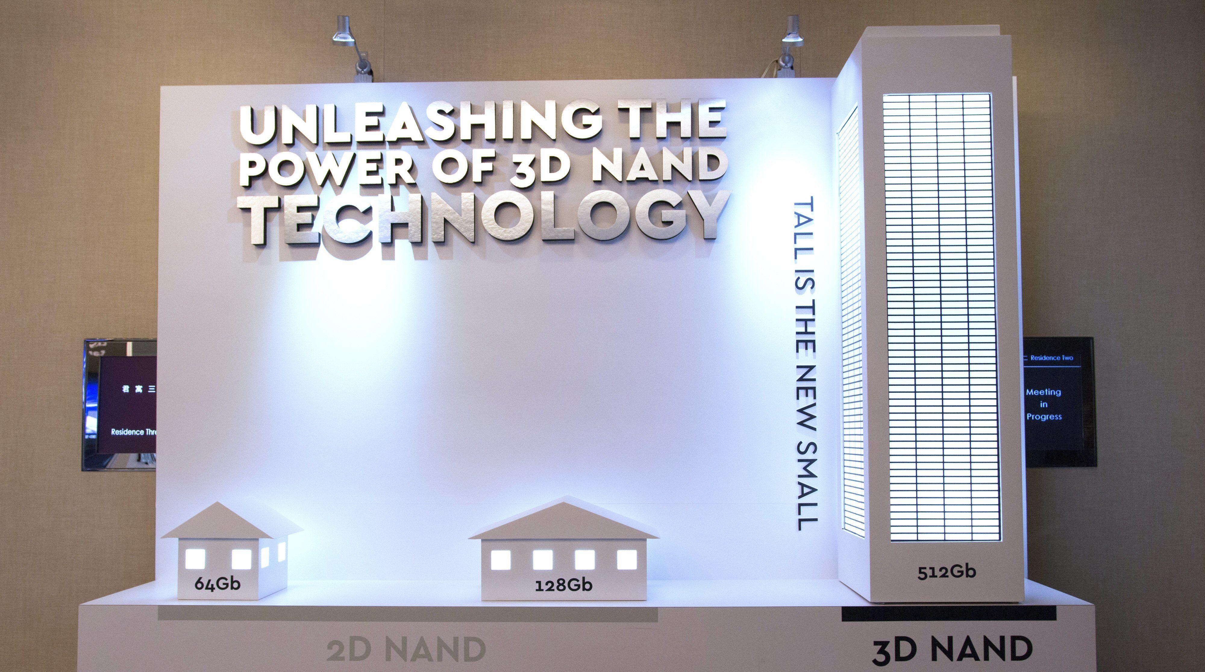 Stadig flere SSD-er har minnecellene stablet i høyden. Dette krever mindre «grunnareal». Samsungs nye klarer fire bits per celle. Bilde: Vegar Jansen, Tek.no