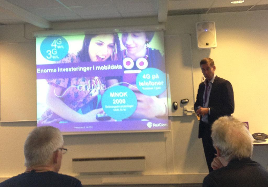 NetCom-sjef August Baumann presenterte den nye prisplanen for pressen.Foto: Vegard Haugen, Mobilen.no
