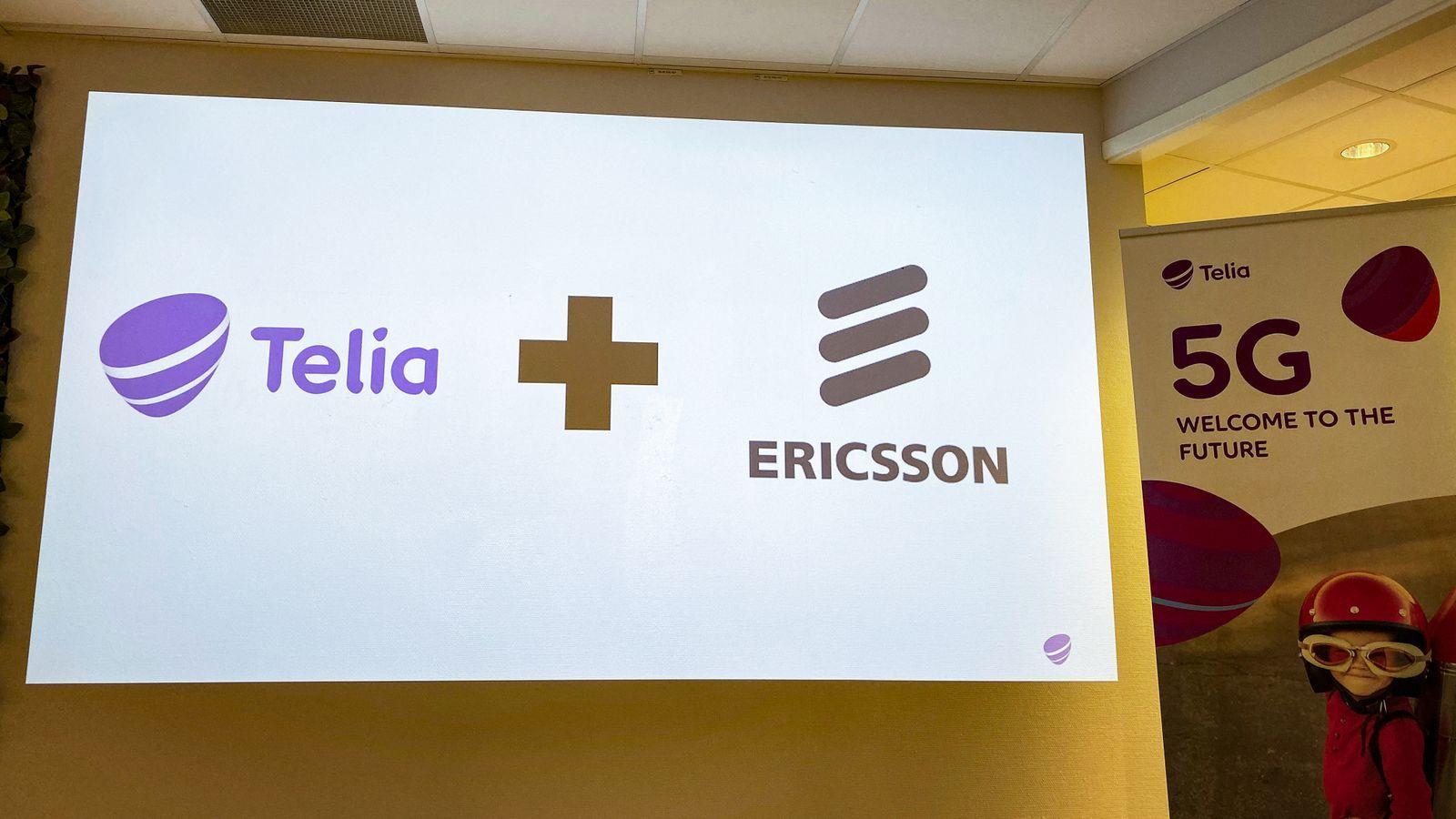 Telia bruker Ericssson som leverandør av 5G-utstyr. Her fra da de offentliggjorde hvem som fikk kontrakten på senhøsten 2019. Noe stort åpningsarrangement i Trondheim har de hoppet over denne gang, på grunn av viruspandemien.