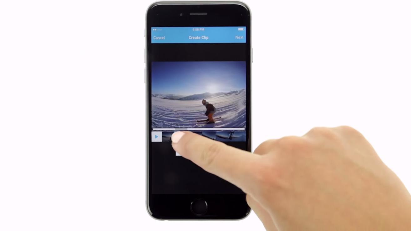 Rediger GoPro-videoene dine rett på mobilen