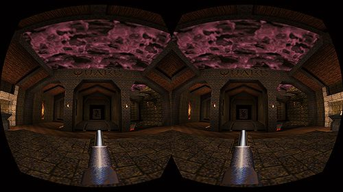 Den lave oppløsningen på utviklerbrillene gjør at Quake ikke fremstår som særlig utdatert. Ikke at du vil få tid til å legge merke til grafikken.