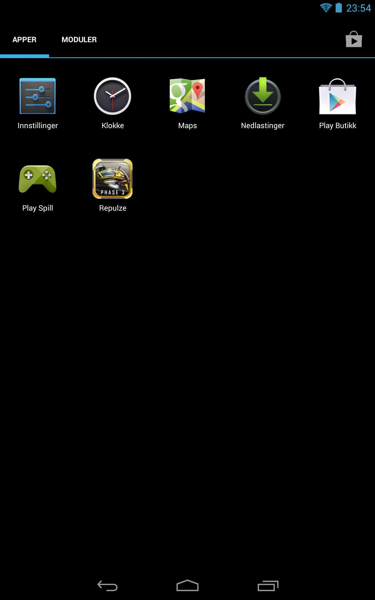 Etter at du har valgt et app-utvalg for den begrensede kontoen, ser app-menyen slik ut.Foto: Finn Jarle Kvalheim, Amobil.no