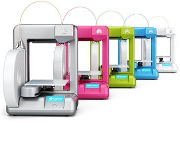 En serie med enkle 3D-skrivere, Cube fra Cubify.Foto: Cubify