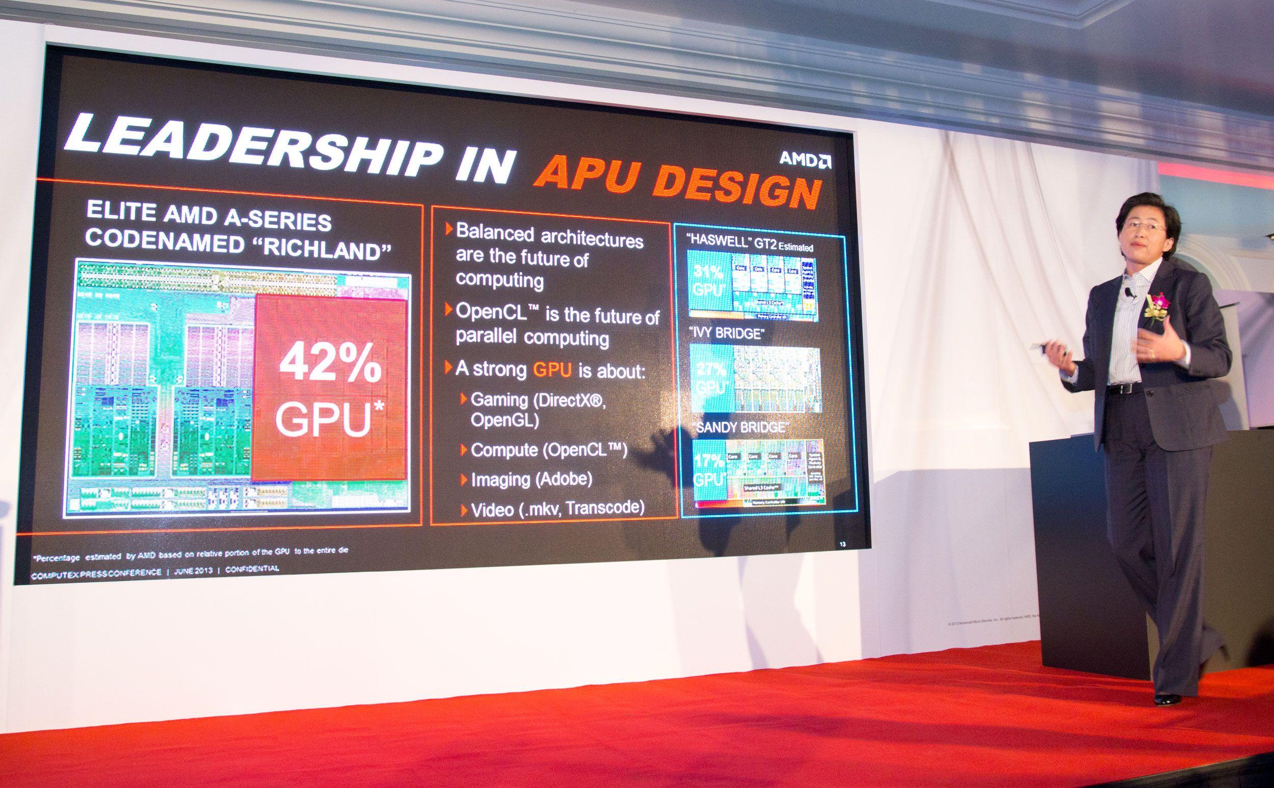 Lisa Su mener det er viktig med grafikkytelse i APU-ene.