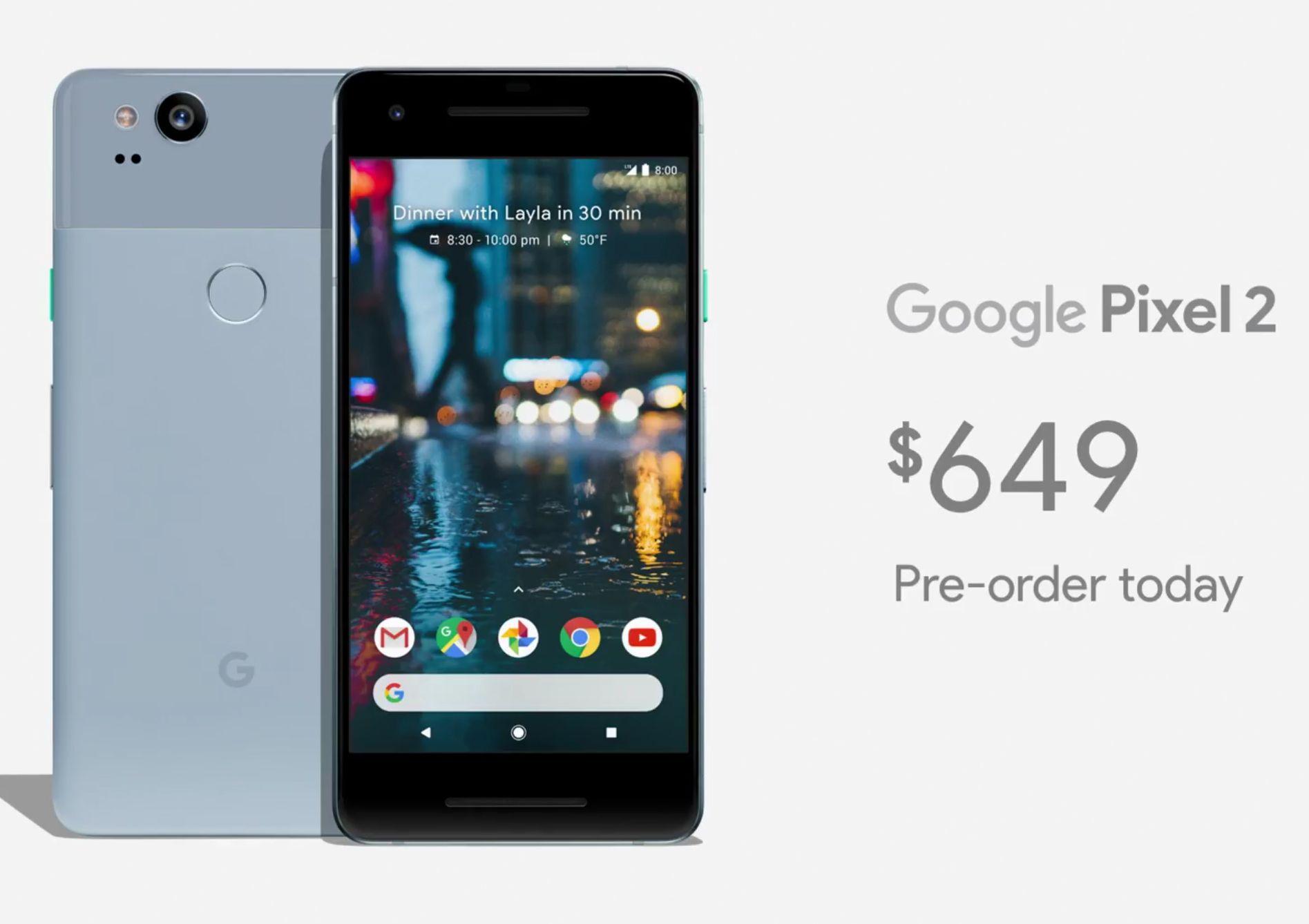 Pixel 2 starter 649 dollar i USA, eller omtrent 5200 kroner.