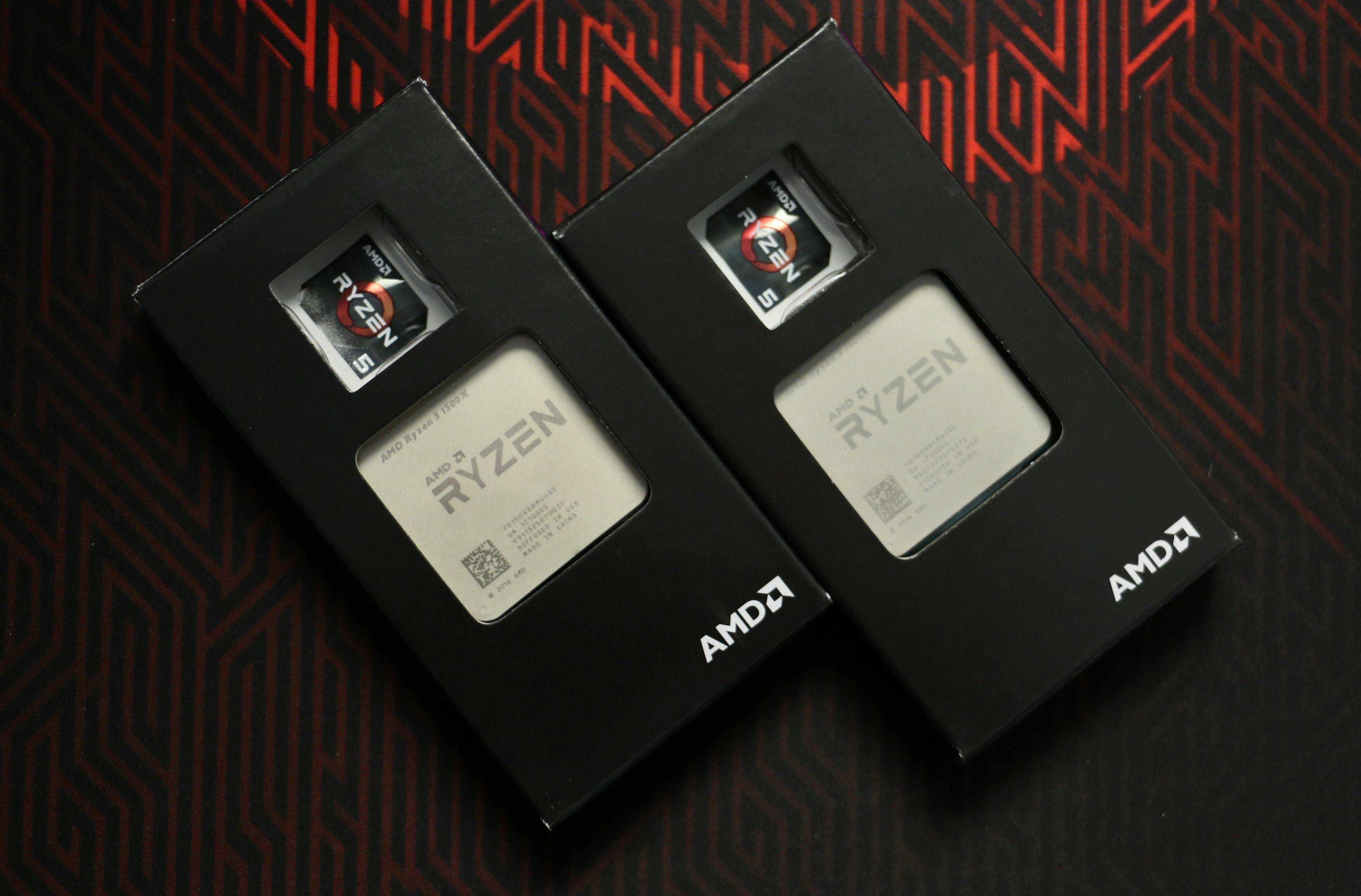 AMD Ryzen 5 1600X og 1500X.
