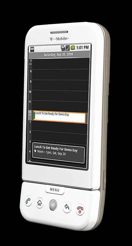 T-mobile G1 er ikke spesielt liten. Den har en markant