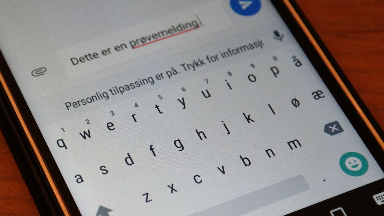 Tastaturet er slik vi kjenner det fra Lollipop. Foto: Espen Irwing Swang, Tek.no