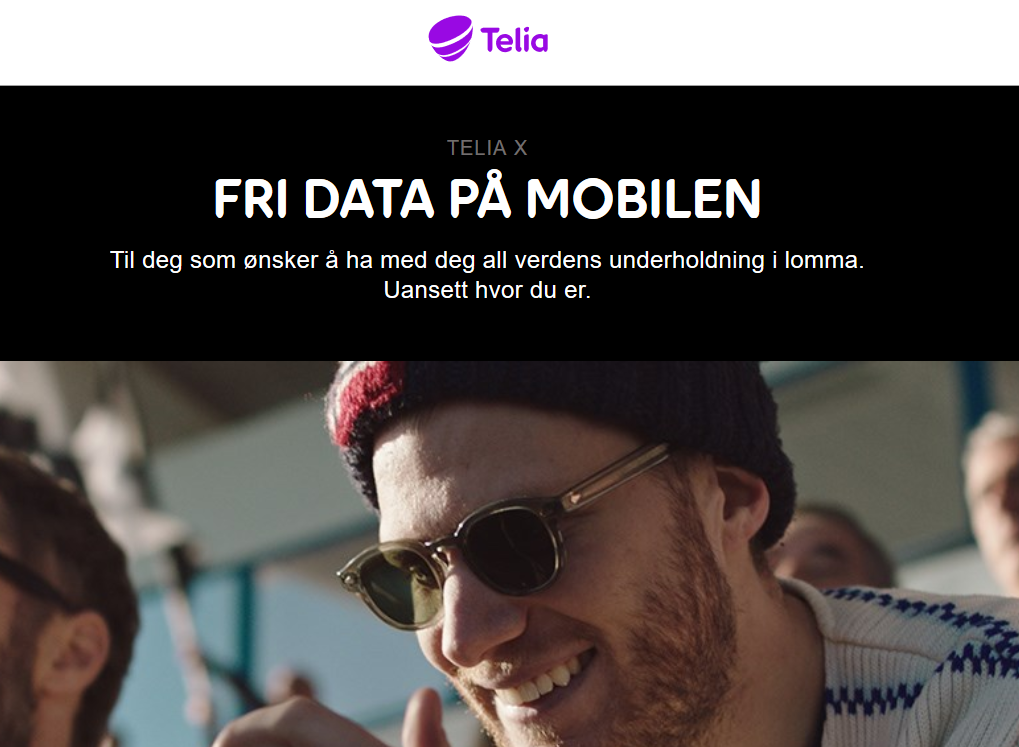 I Telia X-abonnementet begrenses hastigheten etter at kunden har brukt 40 gigabyte. Det får de ikke lov til å kalle fri data, ifølge Forbrukertilsynet.
