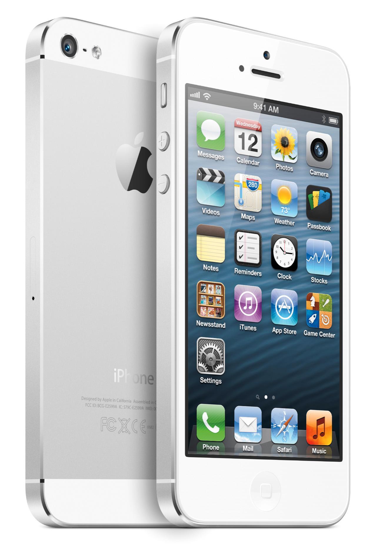 iPhone 5 vil komme i både hvitt og svart.